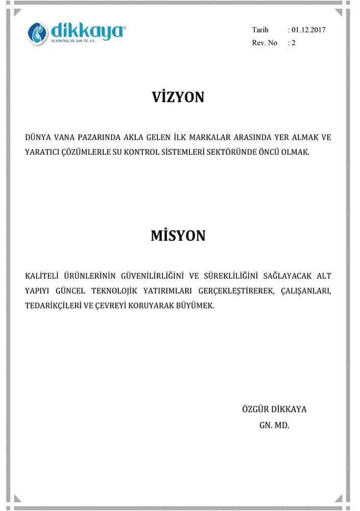Dikkaya-Vizyon-Misyon