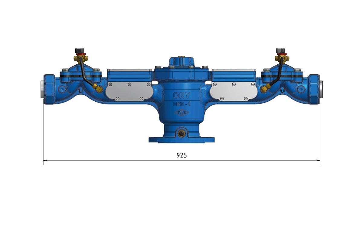 HSH I Tarimsal Sulama Hidranti Hydraulic Irrigation Hydrant Ultrasonic Ultrasonik 3d DKY